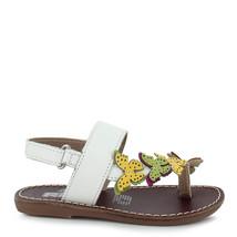 Girl's toddler Rilo white Butterfly Leather Ring Toe Sandal - $27.99