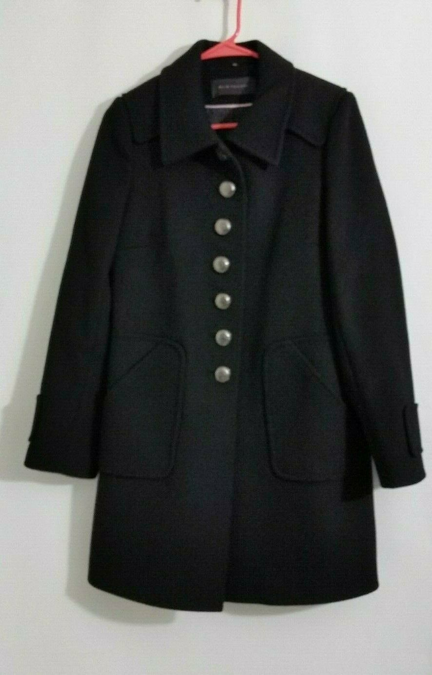 Primary image for Elie Tahari Womens Coat Black 100% Wool Button Size 6