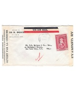 Haiti 1942 Double Censored Air Mail Cover to US Censor Backstamp Sc C17 - $7.99