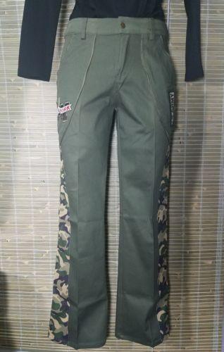 IMPRESSION JEAN USA WOMEN'S GREEN PURPLE CAMOUFLAGE PANTS SZ SMALL 29 X 29 #2509