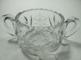 Canastota  Diamond poinsettia Cut Glass sugar - $45.54