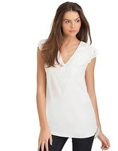 MARCIANO Erica Embroidered Tunic Dress Party White Size M - $85.50