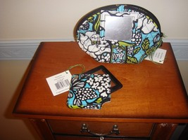 Vera Bradley Island Blooms Mirror Cosmetic And Magnifier - $35.49