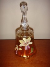 Fenton Glass Showcase Dealer Exclusive Hand Painted Marigold Bell 7671 NF - $34.99