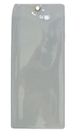 "3 CLEAR PLASTIC SLEEVE LANYARD TICKET HOLDER WITH GROMMET 8.5"" X 3.75"""