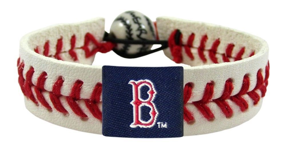 BOSTON RED SOX CLASSIC LEATHER LACES SEAM BRACELET MLB BASEBALL #1