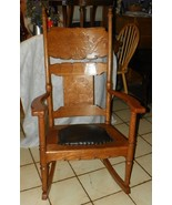 Quartersawn Oak Carved Rocker / Rocking Chair w... - $499.00