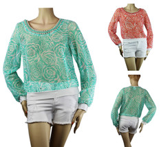 GoGo Dance Fishnet w/ Necklace Summer BLOUSE Beach Layering Party Casual... - $27.99