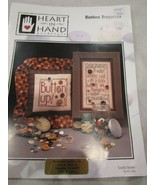 Vintage Heart in Hand Needleart Cross Stitch Leaflet Button Bonanza Bran... - $5.99