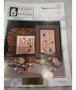 Vintage Heart in Hand Needleart Cross Stitch Leaflet Button Bonanza Brand New - $5.99