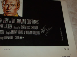 THE AMAZING DOBERMANS 27X41 ONE SHEET VINTAGE POSTER SIGNED BY WILLIAM G... - $163.51