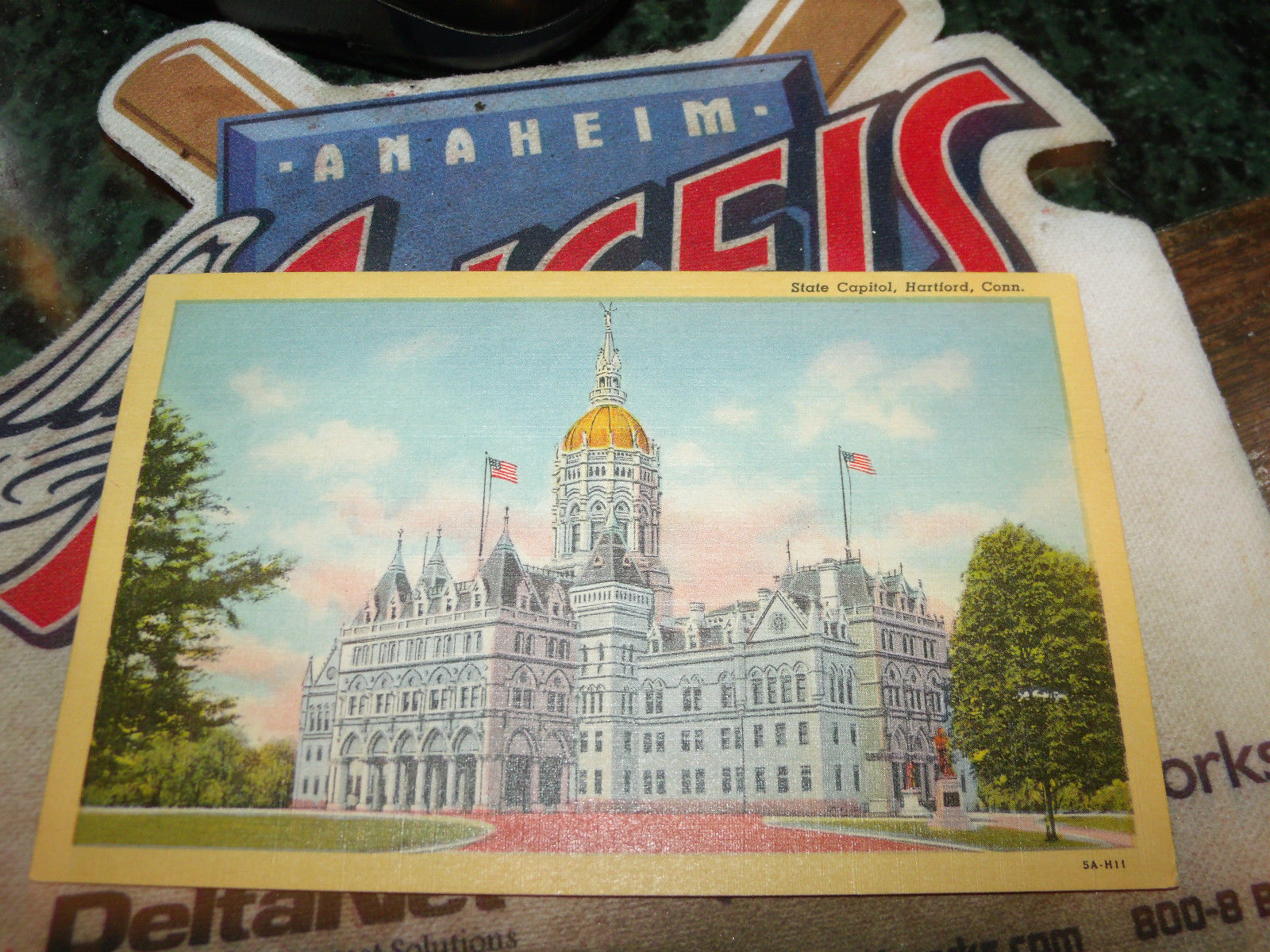 state capitol hartford connecticut vintage unused postcard