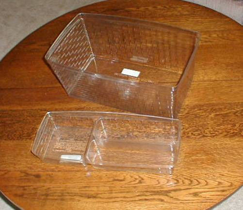 Primary image for Longaberger Hostess Treasures 2002 Basket 2 piece Plastic Protector Set Only New
