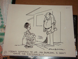 DAVE GERARD CITIZEN SMITH  ORIGINAL COMIC 1977 STORYBOARD DRAWING SIGNED... - $187.00