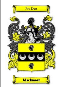 BLACKMORE NAME COAT OF ARMS PRINT - GENEALOGY Bonanza