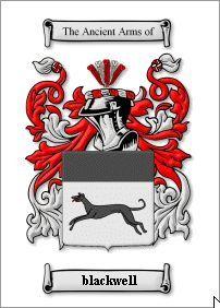 BLACKWELL NAME COAT OF ARMS PRINT - GENEALOGY Bonanza