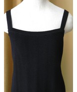 St John Black Dress LBD Straps Black Knit Short Fitted 2 mint - $226.71
