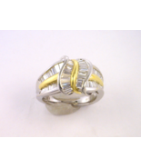 Stunning Platinum and 18KT Yellow Gold Ring wit... - $2,805.00