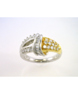Stunning Platinum and 18kt Yellow Gold Ring wit... - $1,370.00
