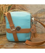Concealed Carry Casual Crossbody Messenger Compact Handbag Purse -Turquo... - $129.99