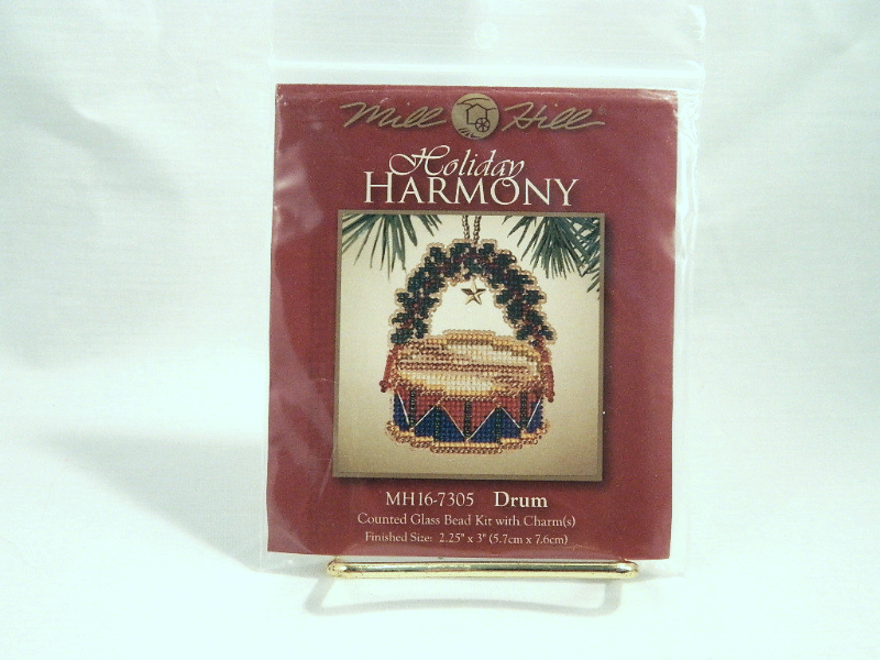 Primary image for Mill Hill Holiday Harmony DRUM Counted Glass Bead Kit with Charms - New In Pkg!