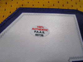 JERRY WEST / NBA HALL OF FAME / AUTOGRAPHED L.A. LAKERS THROWBACK JERSEY / COA image 7