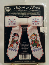 NeedleMagic Stitch-A-Bow SNOWMEN Christmas Ornament - Brand New In Package! - $12.50