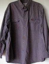 Carhartt Shirt 2XL Blue Orange Plaid Button Down XXL Button Down Mens  - $49.99