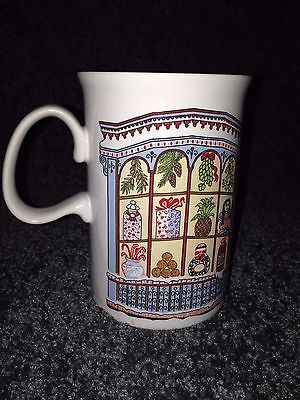 1 Dunoon Ceramic Mug Cup RED white black Coffee tea Hot chocolate Made, Scotland