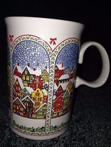 Dunoon Ceramic Mug Cup RED white black Coffee tea Hot chocolate Made In ... - $13.00