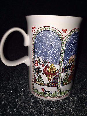 Dunoon Ceramic Mug Cup RED white black Coffee tea Hot chocolate Made In Scotland
