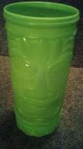 Green Tiki cup glass - $10.00