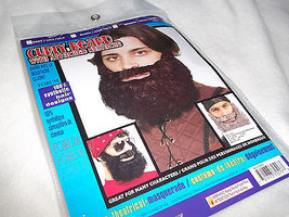 Beard Black  with Mustache Curley Type Beard  Elastic Holder  Forum quality - $8.95