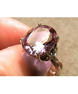RING 7.75 SILVER RUSSIAN ALEXANDRITE ENGAGEMENT WEDDING COLOR CHANGE 925... - $69.95