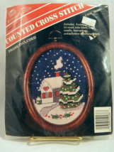 Banar Designs Counted Cross-Stitch Christmas Scene Picture Kit with Fram... - $7.50
