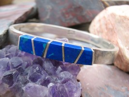 Vintage Taxco Mexico sterling silver Azurite bl... - $90.00