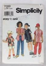 Vtg Shirt Pants Caps Kid's Sewing Pattern 1990s 5 6 6X Simplicity Easy U... - $6.57