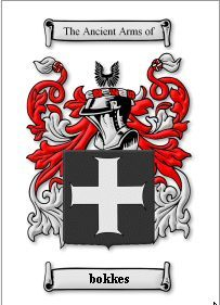 BOKKES Coat of Arms Surname Print - Genealogy Bonanza