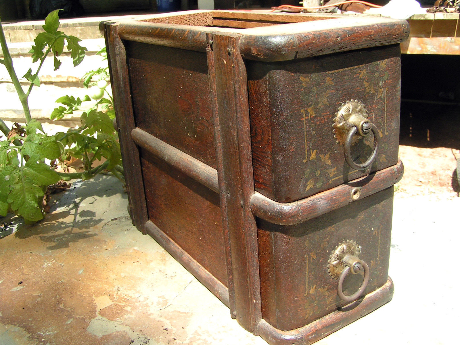 Wooden antique sewing machine drawers 2088 1