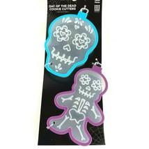 2 Day of the Dead Skull Cookie Cutters Full Body Sugar Skull Baking Fond... - $9.68