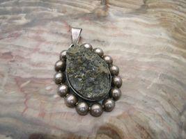 Vintage Mexico sterling silver pyrite druzy cry... - $70.00