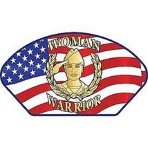 United States Military Woman Warrior Hat Patch  - $9.89