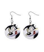 "Custom Pepe Le Pew  1"" Button Earrings NEW-04 - $7.10"