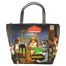 Dogs Playing Poker Custom Bucket Bag (2  Side) - $27.00