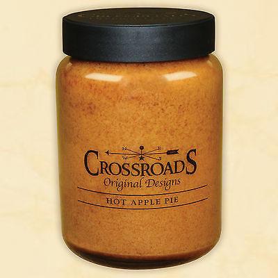 Hot Apple Pie 26 oz. Crossroads Original Designs Jar Candle w/ Lid 2-Wick New