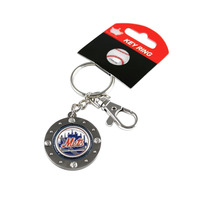MLB New York Mets Team Logo Impact Keychain Key Ring Clip - $10.40