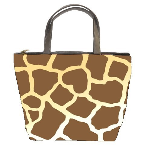 Giraffe Print Custom Bucket Bag (2  Side)