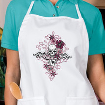 Gothic Skull Playing Cards New Apron Cook Parties Events Gifts - $19.99