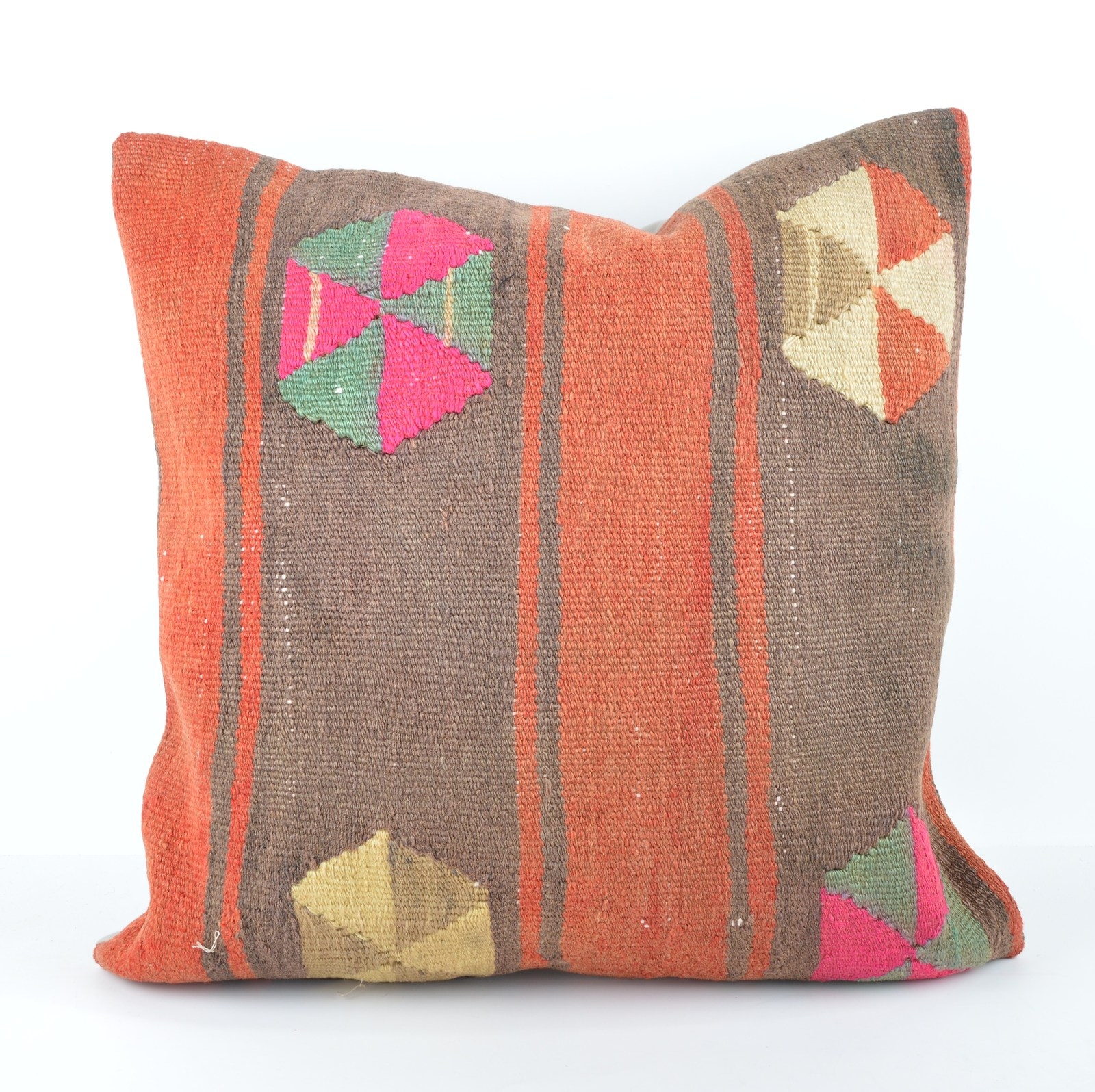 large kilim pillow 20x20 kilim cushion 50x50cm large pillow large throw pillow - Pillows