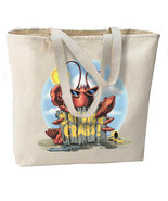 Eat More Crabs Lobster New Jumbo Tote Bag, Summer Beach Fun - $18.99